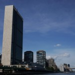 UN Headquarters overlooking the East River