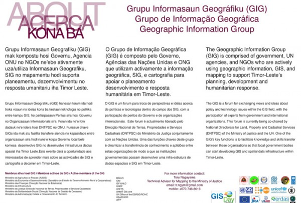The Geographic Information Group – GIG