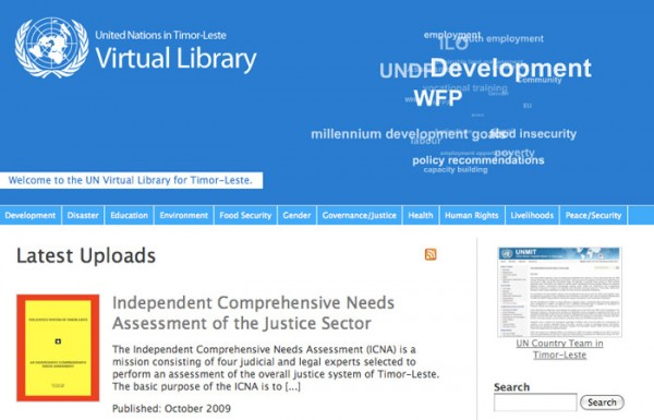 UN Virtual Library in Timor-Leste